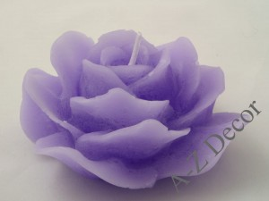 Scented purple rose candle 15cm [AZ01798]