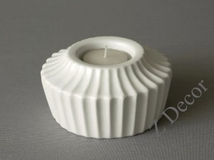 White ADONIS T-light candle holder 11x6cm [000382]