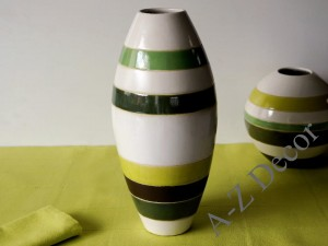 Earthenware vase with strips 37cm [AZ01134]