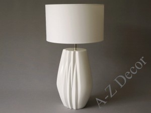 White EVITA ceramic table lamp 60cm [AZ02524]