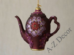 Purple teapot 9cm - TEA TIME collection [AZ01617]