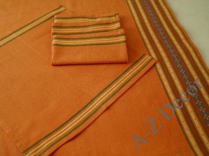 Square cotton tablecloth 150cm with 4 napkins [AZ00163]