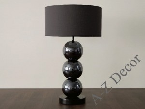 Iris brown PERLA III table lamp 68cm [AZ02177]