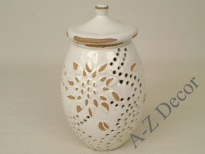 Dried flowers ceramic vase 31cm [003796]