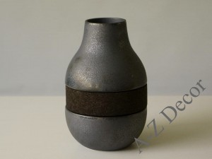 Vase with black cork 20,6cm [000371]
