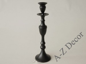 Black metal candle holder 34cm [AZ01955]