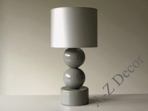 Gray PERLA II bedroom lamp 51cm [AZ02437]