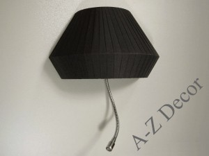 OVNI half shade wall lamp with LED reading lamp [AZ02595]