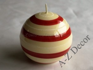 Lacqued ball candle 10cm [008025]