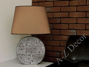 Brown NOEMI table lamp 58cm [AZ02009]