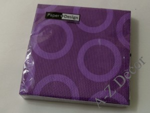 Violet paper napkins with big wheels [AZ01473]