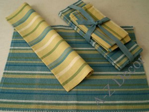 Cotton set of table textiles for 4 people [AZ00498]