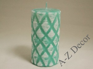 Tiffany lacquered pillar candle 15cm [005841]
