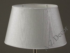 Silver oval lampshade 35x23x20cm [008796]