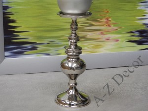 Metal candle holder 27cm [AZ01949]