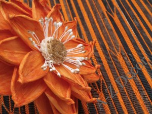 Orange table placemat with abaca[AZ01512]
