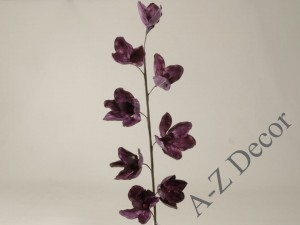 Dark purple artificial Cymbidium 109cm [AZ01689]
