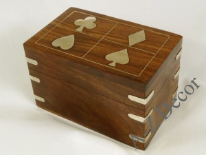 Wooden box 13x7,5x8cm + cards [AZ01553]
