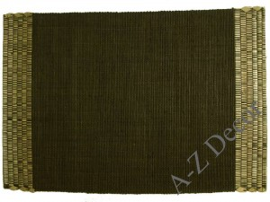Brown raffia table placemat [AZ01083]