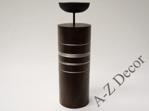 Wooden candle holder 25cm [003036]