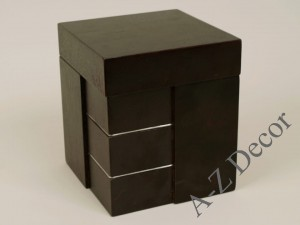 Square wooden box 18cm [AZ00471]