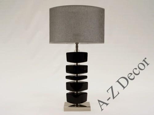 Black LINA bedroom lamp 55cm [AZ02233]