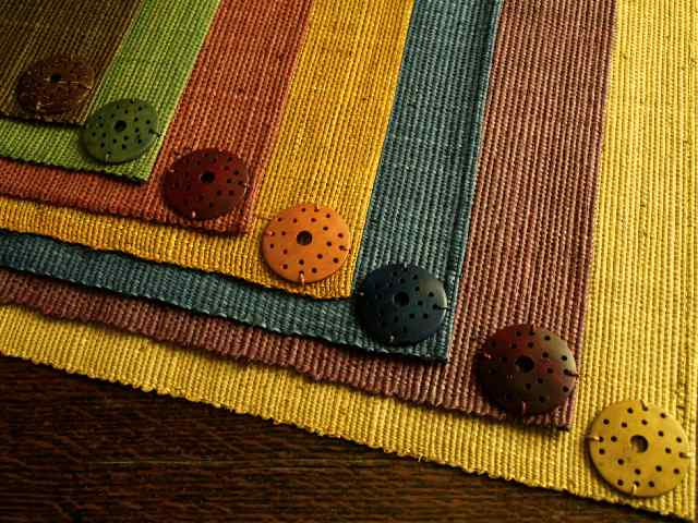 Collection of raffia table placemats